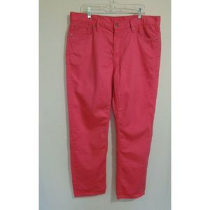 Levi's 541 Straight Leg Jeans Pink Cotton Denim